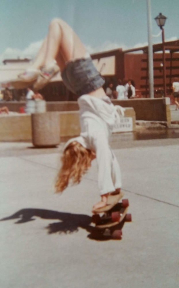 My Mother Doing A Handstand On Two Skateboards (Circa 1980's)