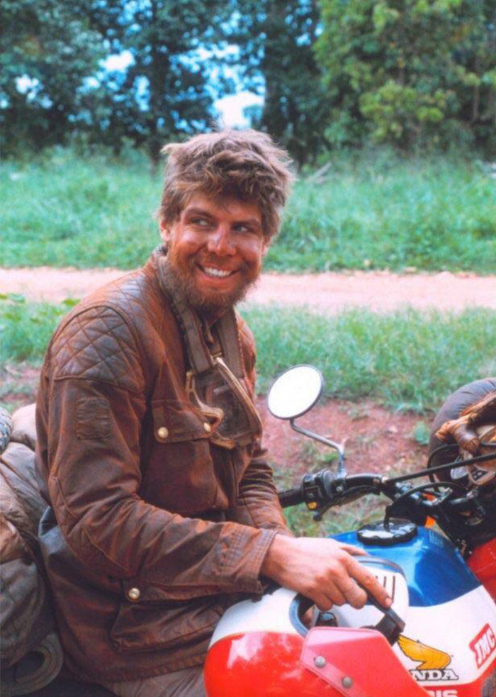My Father Halfway Through Motorcycling Across Africa - 1980s