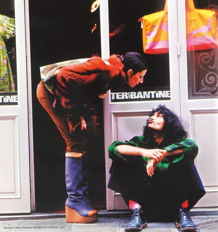 My Parents In 1972 In Front Of Their Store In Paris