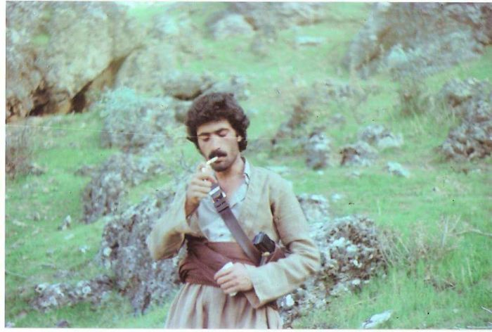 My Dad Taking A Smoking Break While Fighting Saddam Husseins Army In The 80s