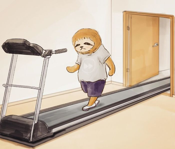 Funny-Sloth-Illustrations-Keigo