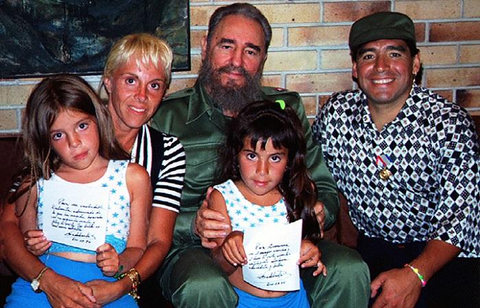1994 он. Фидель Кастро Марадона нар.